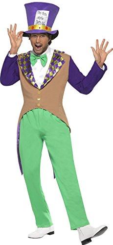 cher Kostüm, Hose, Jacke, Fliege und Hut, Größe: M, 29025 (Verrückter Hutmacher Herren Kostüme)