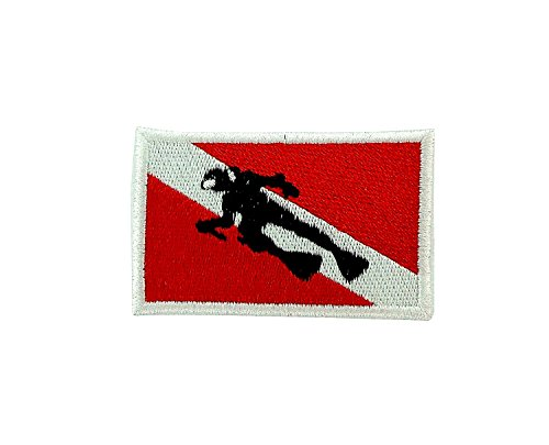Patch gesticktem Ecusson-Taucher Scuba Diving Flagge 25 Metern Sous Marine Backpack