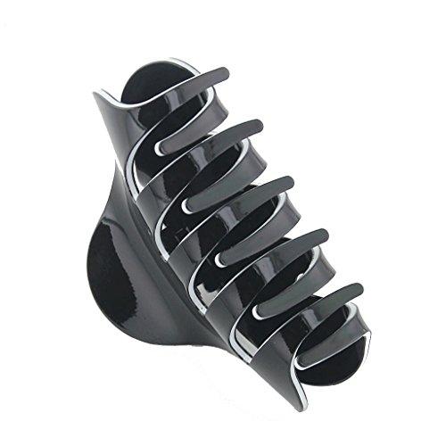 Mode-griff (Sharplace Damen Haar Schmuck Acryl Haargreifer Clip Griff Haarspangen - Mode Schmuck - Schwarz)