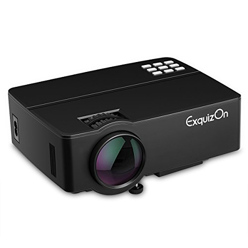 Exquizon E08 - LED Proyector Home Cinema Multimedia (800x480P, Soporta 1080P, 1500...