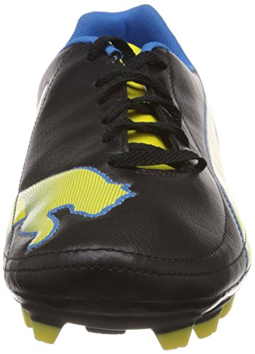 Puma  Velize II FG, Chaussures de football homme Noir - Schwarz (black-blazing yellow-brilliant blue 02)