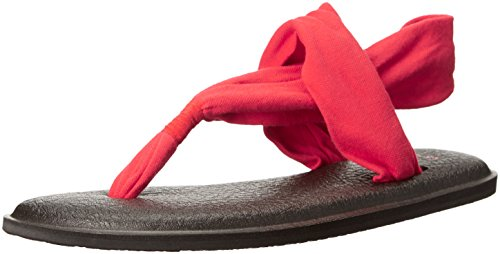 Sanuk Yoga Sling 2 Sandals Women Größe UK 7 bright red (Sanuk Leichte Sandalen)