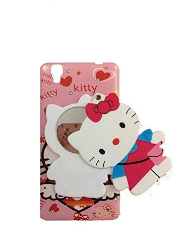 ANVIKA 3D Designer Makeup Mirror Hello Kitty Case Cover for Micromax YU Yureka 5510 / Yureka Plus + (Multi Color)