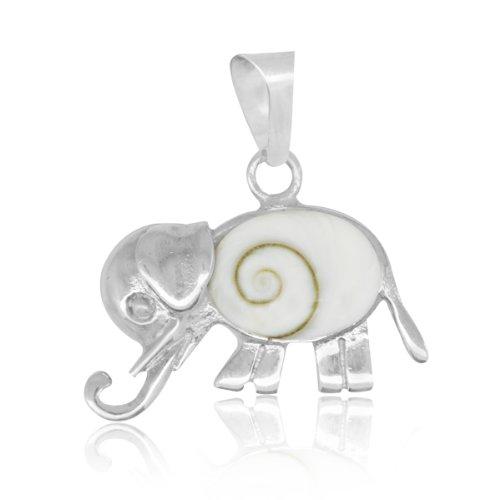 Chic-net Shiva ojo Elefant 22 mm colgante oval 925er de plata ojo...