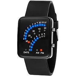 HARRYSTORE Women Mens Fashion Futuristic Multicolor LED Sport Wrist Watch Silicone Smart Wristband
