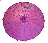 AAF Nommel ® Sonnenschirm 004, Dekoschirm aus Kunstfaser, Wasserfest in lila aus Bambus