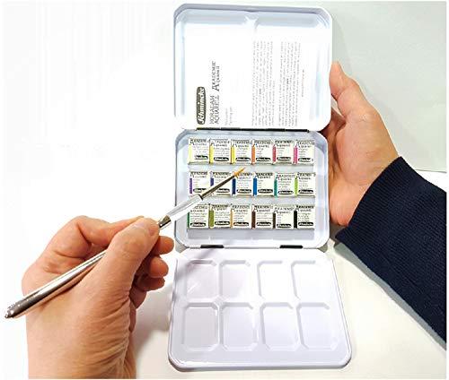 Schmincke Aquarellfarbe Metallkasten Synthetics Papierwischer