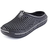Rokiemen Garden Clogs Shoes Womens Mens Walking Sandals Mesh Quick Drying Slippers Beach Sandals Grey