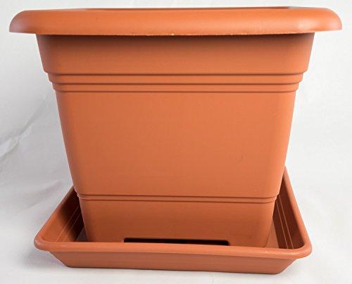 Pflanzkübel zylindrich terracotta Kunststoff 30 cm frost+bruchsicher ohne Dekor