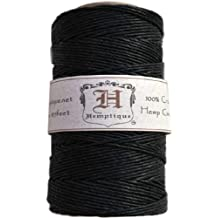 Hemptique HS20CO-BLK - Cordel para jardinería, color negro