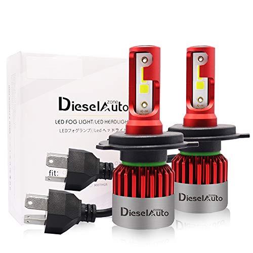 Diesel Auto Zone H4/HB2/9003 LED Lampadine del Faro Kit 9000LM 72W 6500K Bianco Lampade Lampadine con COB Chips 12V Led Luci - 3 anni di garanzia (confezione da 2)