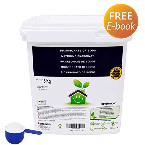 Nortembio Bicarbonato di Sodio 5 kg, Input per la Produzione Biologica, Senza Alluminio, qualità Premium, 100% Naturale. Sviluppato in Italia.