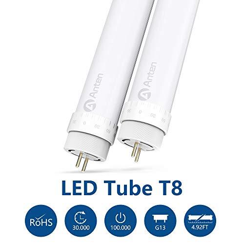Anten 2er 150cm T8 G13 Leuchtstoffröhre Naturweiß 4000~4500K 24Watt LED Röhre Tube Leuchtmittel inkl. LED Starter (2er-Pack)