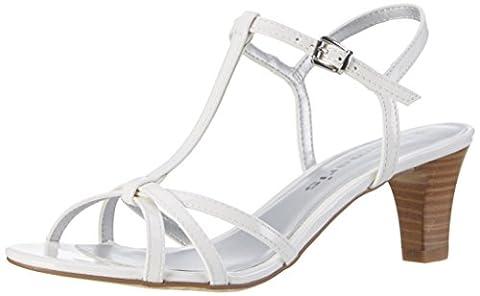 Tamaris Damen 28329 T-Spange, Weiß (White Patent 123), 39