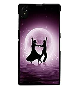 ColourCraft Dancing Couple Design Back Case Cover for SONY XPERIA Z1
