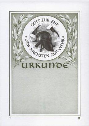 Albert Hoffmann Urkundenverlag Feuerwehr / 100 / 1122 / GOTT ZUR EHR / PC-Urkunden (170 g/m²) 10 Stk