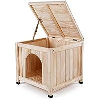 Mochila Caseta de madera maciza para interiores Perro pequeño Cama para mascotas Casa del gato -
