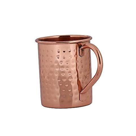 Kosma Moscow Mule Mug en cuivre martelé en design avec poignée en cuivre - 16oz | 475 ml.