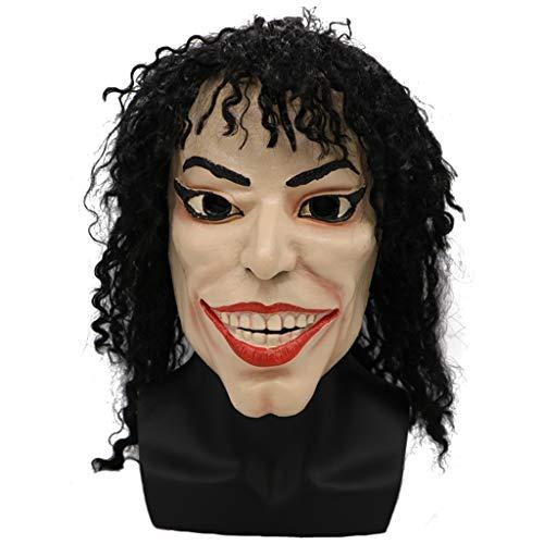 LYLLB-festival items Latex Tanz König Maske Kopfbedeckung Halloween -