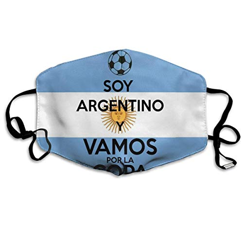 Vbnbvn Unisex Mundmaske,Wiederverwendbar Anti Staub Schutzhülle,Gesichtsmaske I'm Going to The Argentine Cup Anti Pollution Washable Reusable Mouth Masks -