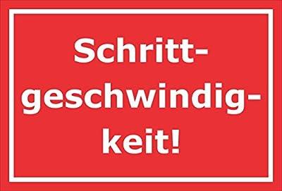 Schild – Schrittgeschwindigkeit – 15x10cm, 30x20cm und 45x30cm – Bohrlöcher Aufkleber Hartschaum Aluverbund -S00281D