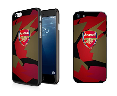 InToro FC Arsenal-Camouflage UV-für Apple iPhone 7/8I-Bumper Cover I Kratzfest Smartphone Schutz-Rot