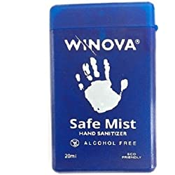 Winova Safe Mist Spray (Peppermint), Alcohol Free Mini Hand Sanitizer (20ml) Pack Of 3