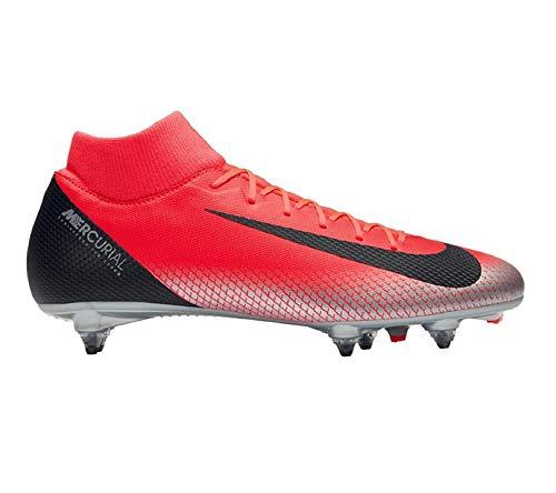 ne Superfly 6 Academy Cr7 Sg Fußballschuhe, Mehrfarbig (Bright Crimson/Black/Chrome/Dark Grey 600), 44 EU ()