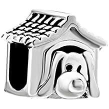korliya – Caseta de perro 925 plata esterlina cuentas ...