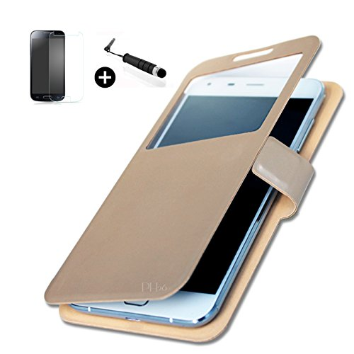 haier-phone-w826-super-pack-etui-fentre-housse-coque-folio-or-gold-cuir-pu-qualit-mini-stylet-screen
