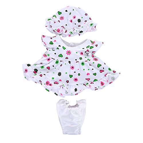 Zolimx Puppenbekleidung Kleid für 18 Zoll American Doll mit Puppenkleid, Unterhosen, Hut