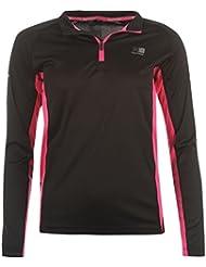 Karrimor Femme 1/4Zip Manches Longues T-shirt de course Jogging Fitness Top Maillot de sport