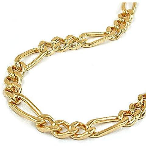 Collar de cadena de corte de diamante de la longitud de la cadena figaro 4 x 50 cm