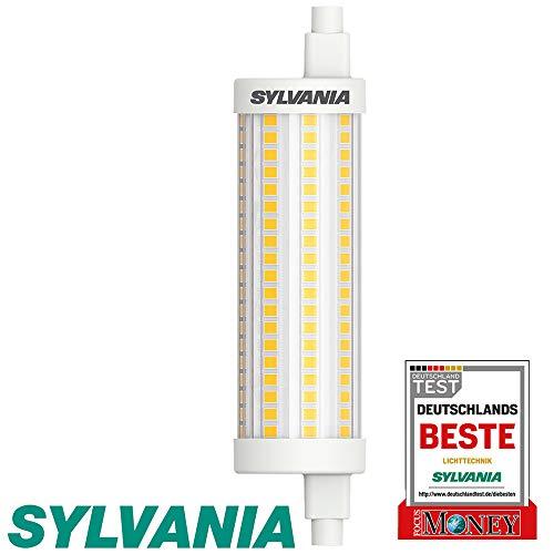 Sylvania R7S LED 118mm Stablampe - LED Halogen Ersatz (12,5 Watt, 1521 lm, Lichtfarbe: 2700 K), LED Leuchtmittel warmweiß [Energieklasse A++] (1 Lampe) NICHT DIMMBAR -
