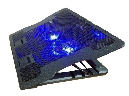 """DOUBLE ERGO Notebook Kühler Pad Cooler Ständer mit 2 Lüfter 2x USB Hub für 15"""" 16"""" 17"""" Zoll"""