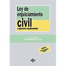 Ley de Enjuiciamiento Civil y legislación complementaria (Derecho - Biblioteca De Textos Legales)