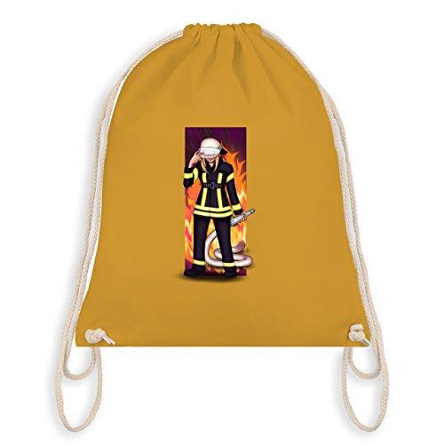 Shirtracer Feuerwehr - Coole Feuerwehrfrau - Unisize - Senfgelb - WM110 - Turnbeutel & Gym Bag