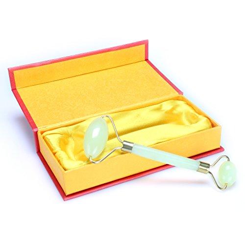 1 PCS Gesichtsentspannung Abnehmen Werkzeug Jade Rollen-Massagegerät für Gesicht Körper-Kopf-Hals Fuß Massieren für Frauen / Dame