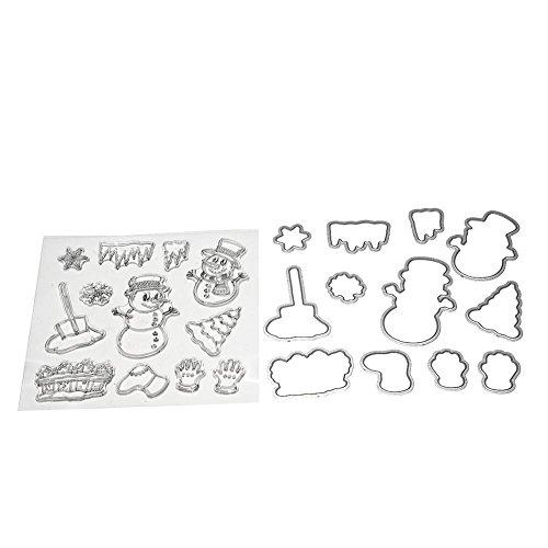 kig Formen Schablone & Silikon Dichtung Prägung Stempel Karte machen Papier Craft Vorlage Verzierungen schneemann (Schneemann-schablone)