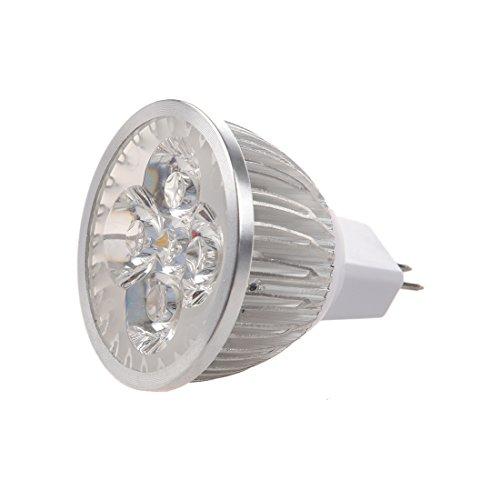 TOOGOO(R) 4 * 1W GU5.3 MR16 12V Warm White LED Light Lamp Bulb Spotlight Test