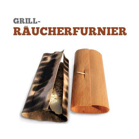 Grill-Räucherfurnier Buche 7 Blatt, 19 x 19