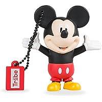 Tribe Disney Mickey Mouse USB Stick 8GB Pen Drive USB Memory Stick Flash Drive, Gift Idea 3D Figure, PVC USB Gadget with Keyholder Key Ring – Multicolor