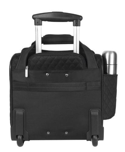 Travelon Rädern underseatkann unter Handgepäck mit Backup-Tasche, schwarz (schwarz) - 6454-Black-One Size schwarz