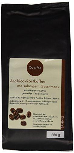 Querfee Kaffee mit Geschmack - Sahne - Arabica Röstkaffee - gemahlen - 250 g, 1er Pack (1 x 250 g)
