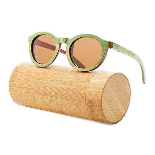UV400 polarisierte Sonnenbrillen aus Holz/handgefertigte Gläser/runde Linsen für Mann und Frau beim Reisen, Outdoor-Sport und Aktivitäten, als Geschenk für Familie und Freunde