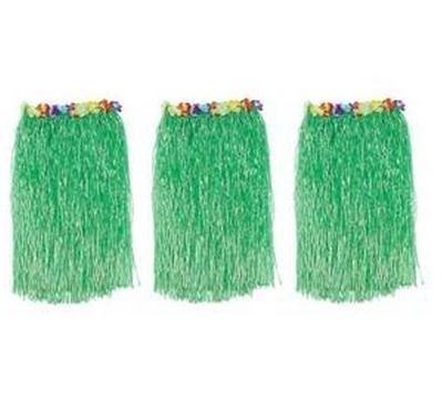 Butterme 3er-Pack Luau Hula Holiday Party Grass Skirts-Grün mit den künstlichen Blumenabschlußbünde Erwachsene