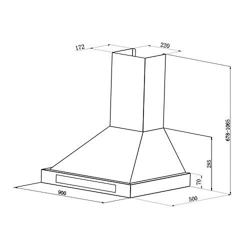 Klarstein Zelda 90 • Campana de extracción • Campana extractora de pared...