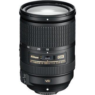 Nikon Obiettivo Nikkor AF-S DX 18-300 mm f/3.5-5.6G ED VR, Nero [Versione EU]
