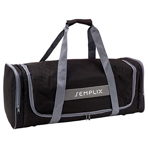 SEMPLIX Plottertasche, die optimale Aufbewahrungs- und Transport-Tasche für Hobby Plotter samt Zubehör (schwarz)