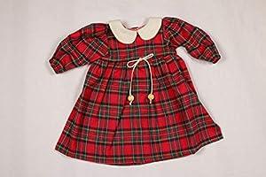Sturm 2631-4 - Vestido de Cuadros para muñecas, Color Rojo